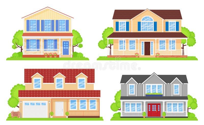 Frente de la casa Ilustraci?n del vector Construcci?n exterior stock de ilustración