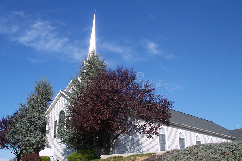 Frente de la iglesia, anguloso imágenes de archivo libres de regalías