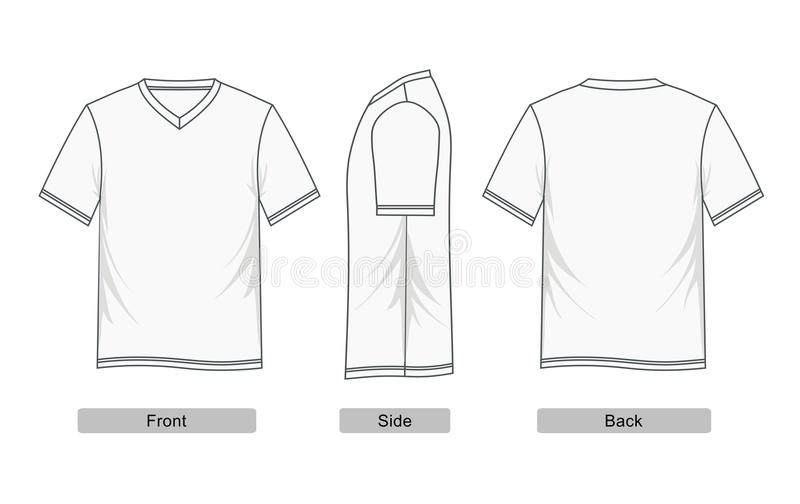 Frente de la manga de raglán de la camiseta, lado, parte posterior, imagen libre illustration