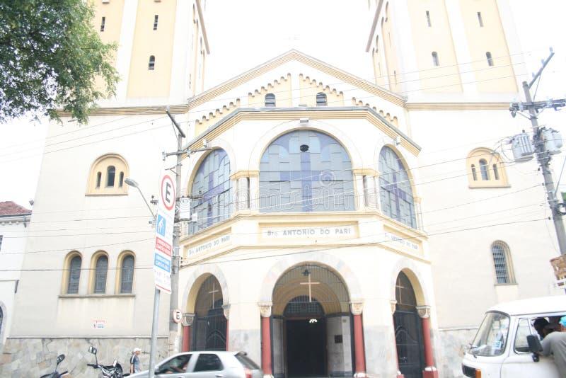 Frente de la mezquita en Sao Paulo el Brasil imagen de archivo