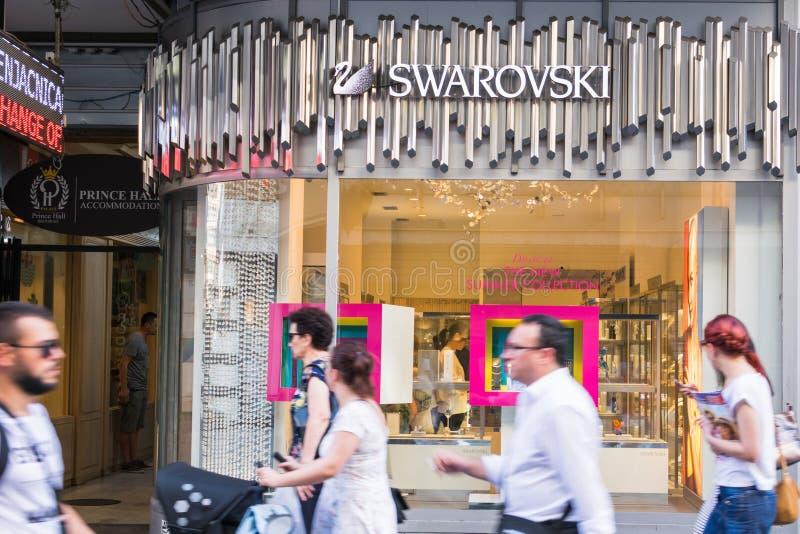 Frente de la tienda de Swarovski foto de archivo