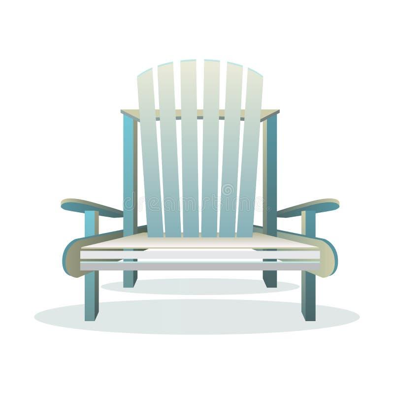 Frente de madera de la silla de Adirondack libre illustration