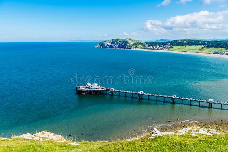 Frente de mar de Llandudno en País de Gales del norte, Reino Unido foto de archivo