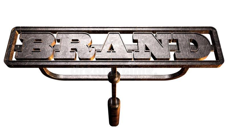 Frente de marcado en caliente de la marca del metal imagen de archivo