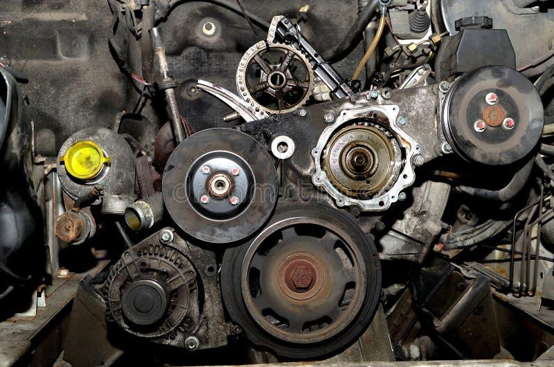 Frente de un motor. imagenes de archivo
