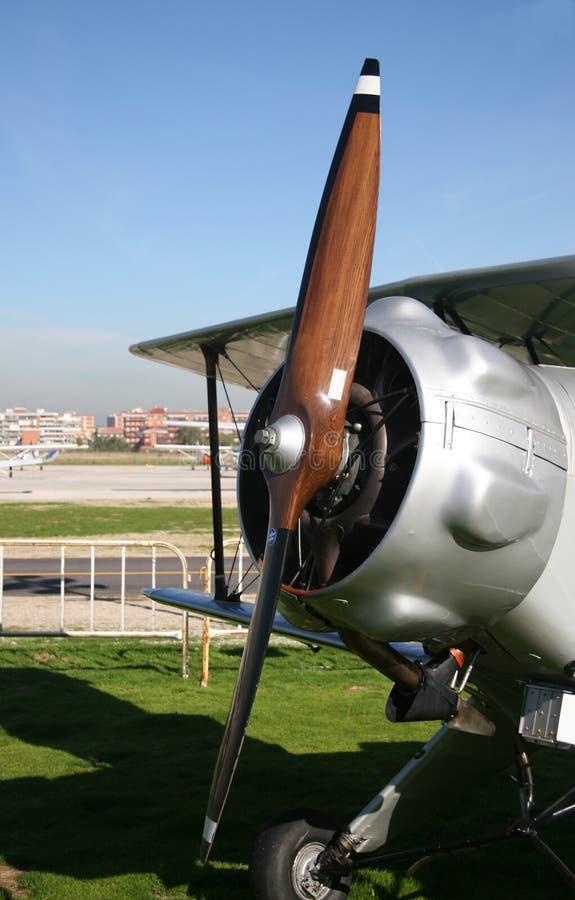 Frente del aeroplano imagenes de archivo