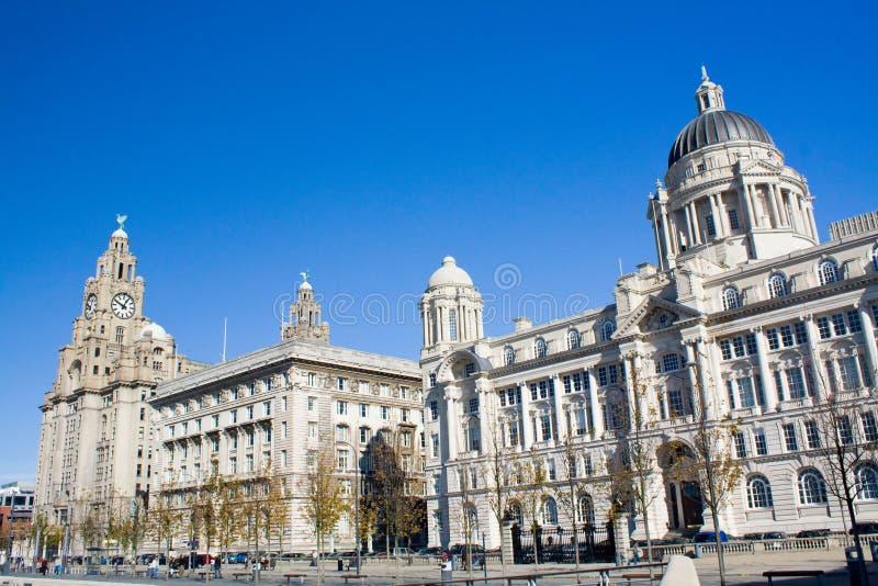 Frente del agua de Liverpool fotos de archivo libres de regalías