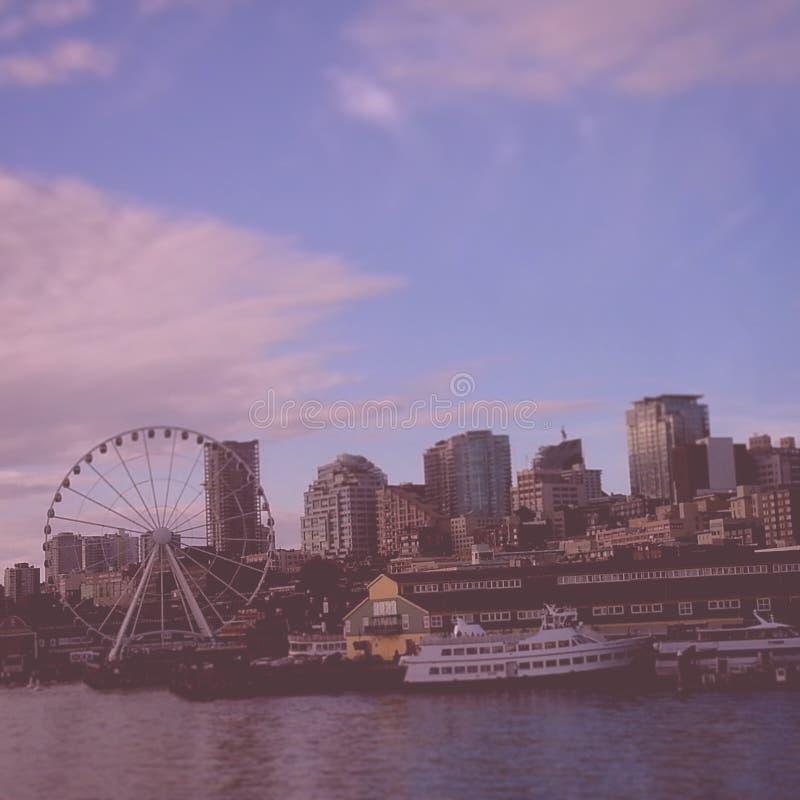 Frente del agua de Seattle foto de archivo