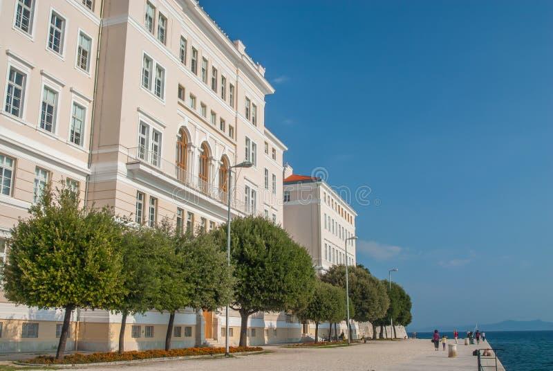 Frente del agua de Zadar, Croacia imagen de archivo
