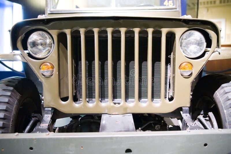 Frente del jeep americano viejo fotografía de archivo libre de regalías