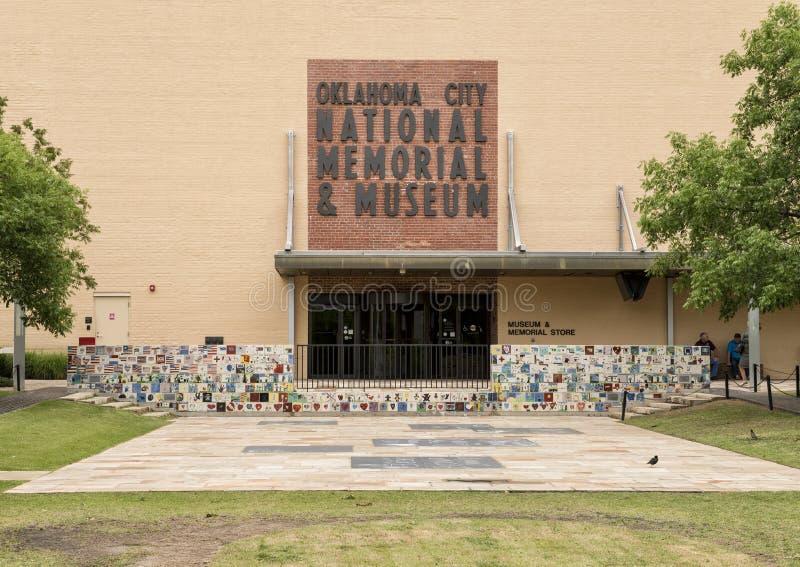 Frente del monumento y del museo nacionales del Oklahoma City imagen de archivo libre de regalías