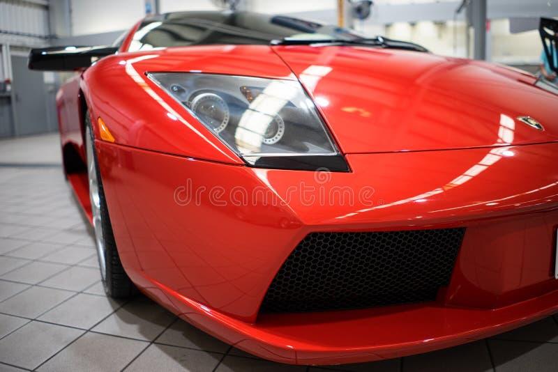 Frente del primer de Lamborghini Mucielago imagen de archivo libre de regalías