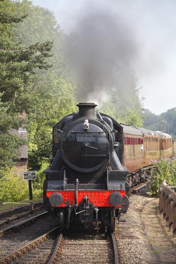 Frente del tren del vapor imagen de archivo libre de regalías