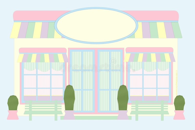 Frente en colores pastel del almacén - ratón drenado foto de archivo libre de regalías