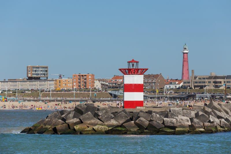 Frente holandés del faro del mar de La Haya fotos de archivo libres de regalías