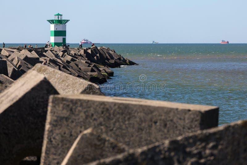 Frente holandés del faro del mar de La Haya imágenes de archivo libres de regalías