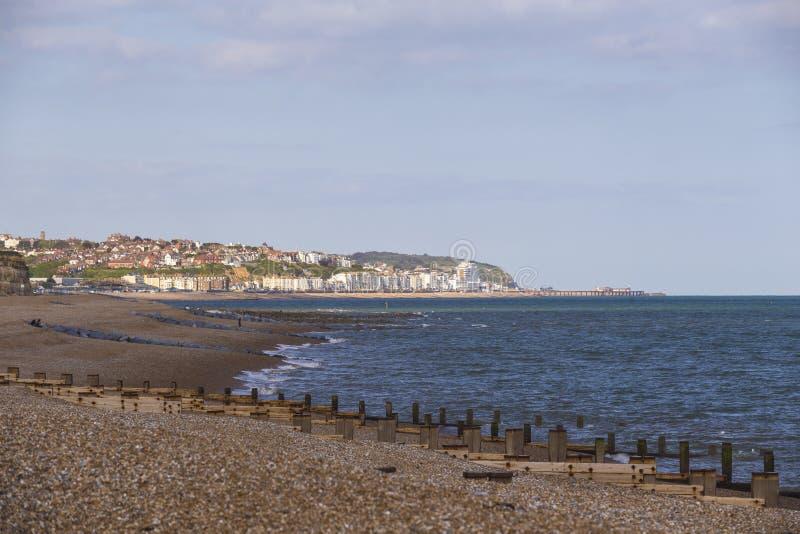 Frente marítima de Hastings fotografia de stock