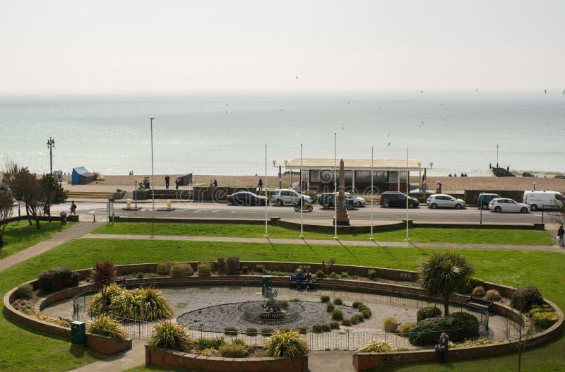 Frente marítima de Worthing em Sussex ocidental, Inglaterra imagem de stock royalty free
