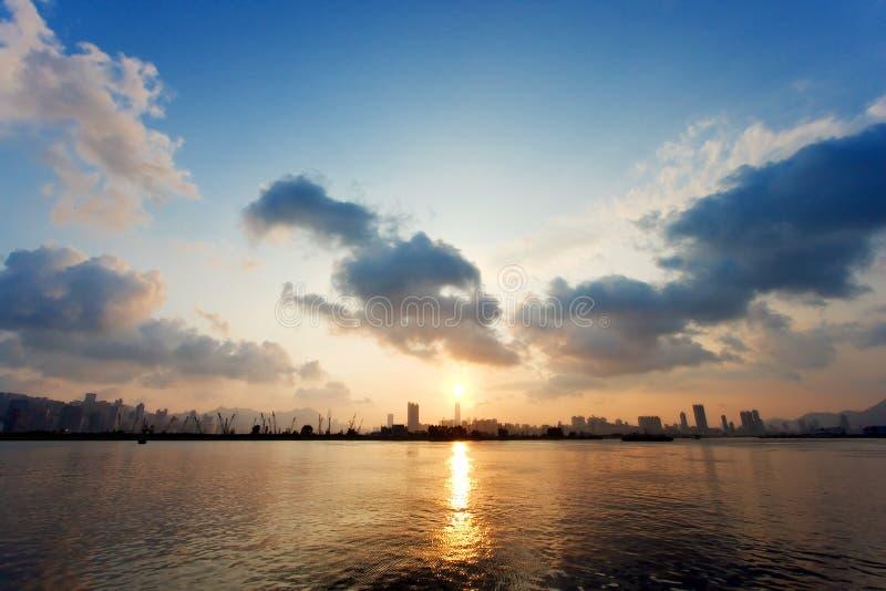 Frente marítima do Tong de Kwun, Hong Kong imagem de stock
