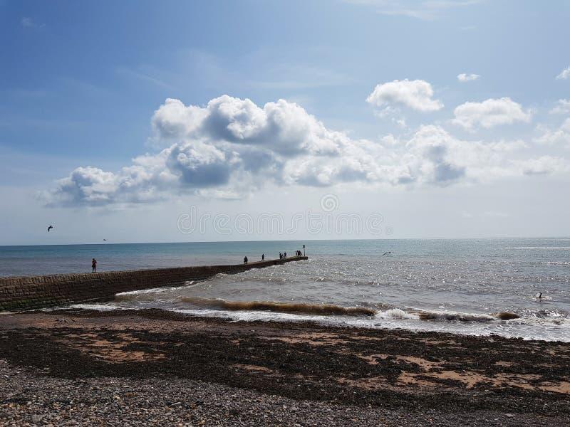 Frente marítima em Dawlish, Reino Unido fotografia de stock