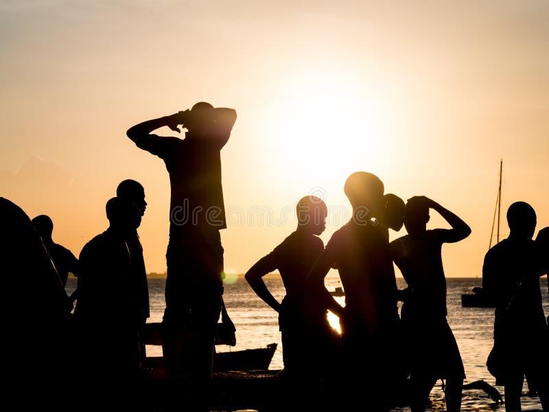 Frente marítima na cidade de pedra, Zanzibar, Tanzânia imagens de stock royalty free