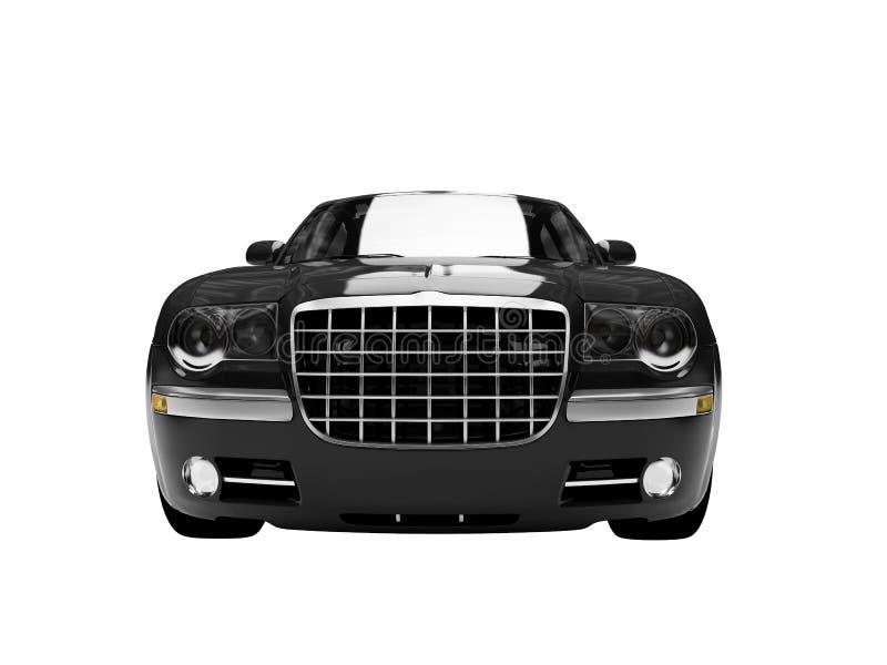 Frente negro aislado view3 del coche ilustración del vector