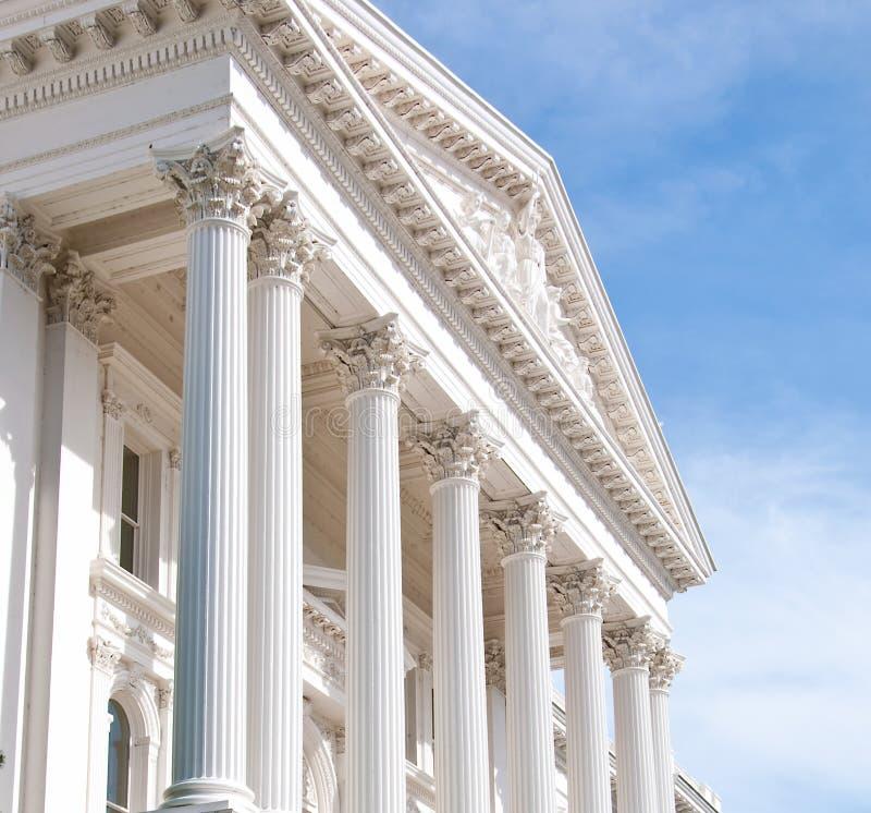 Frente o edificio del capitolio del estado de California imagen de archivo libre de regalías