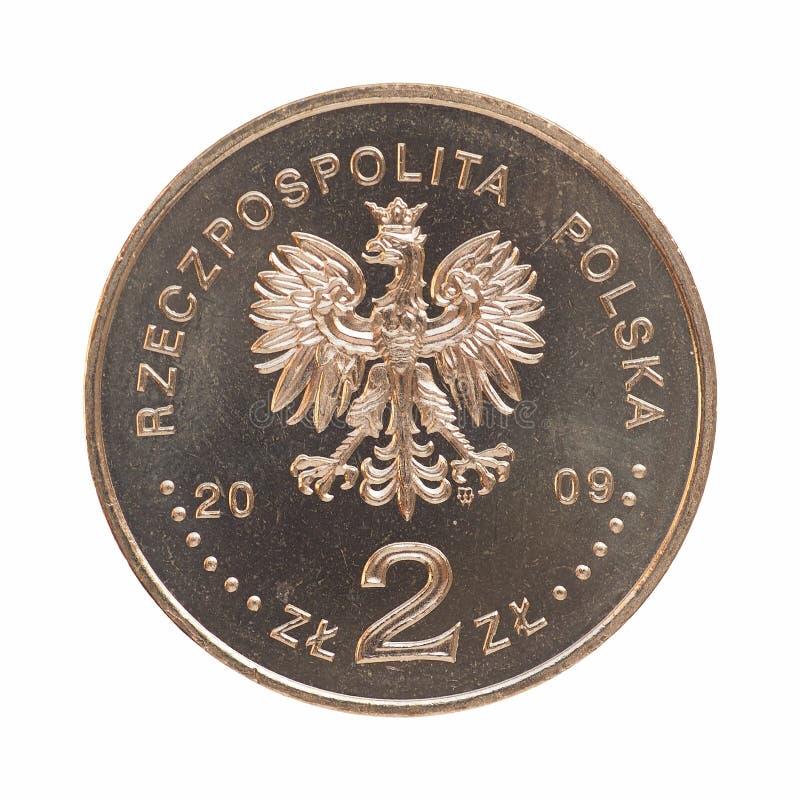Frente polaco de la moneda foto de archivo libre de regalías