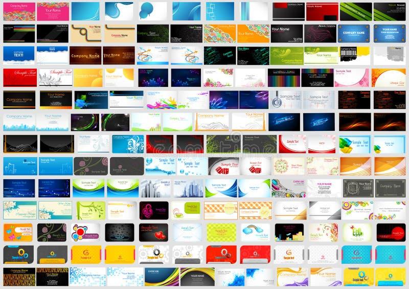 Frente y parte posterior de la colección del jumbo de la tarjeta de visita del negocio corporativo stock de ilustración