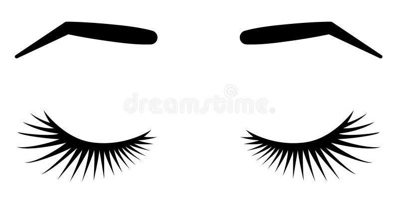 Frentes y latigazos Ejemplo del vector de latigazos y de frentes Para el salón de belleza, extensiones fabricante, amo del latiga libre illustration