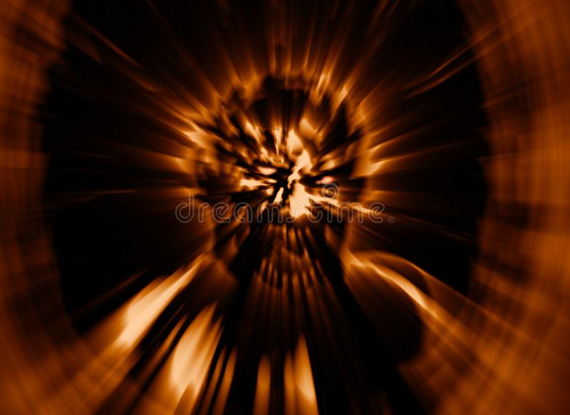 Frenzy zombie head cover. Illustration in genre of horror. Image with blur effect stock illustration