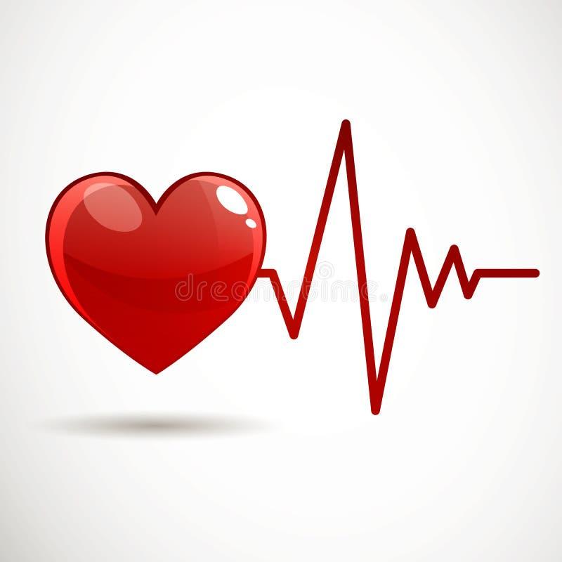Frequência cardíaca ilustração stock