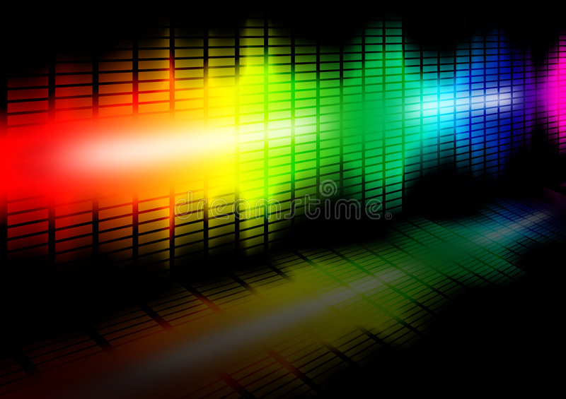 Frequency equalizer royalty free illustration