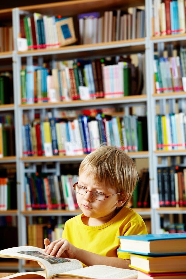 Frequentador da biblioteca fotos de stock