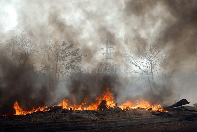 Frequente brand bij krottenwijken van Kolkata stock fotografie