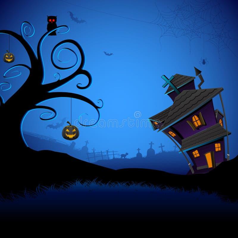 Frequentiertes Halloween-Haus vektor abbildung