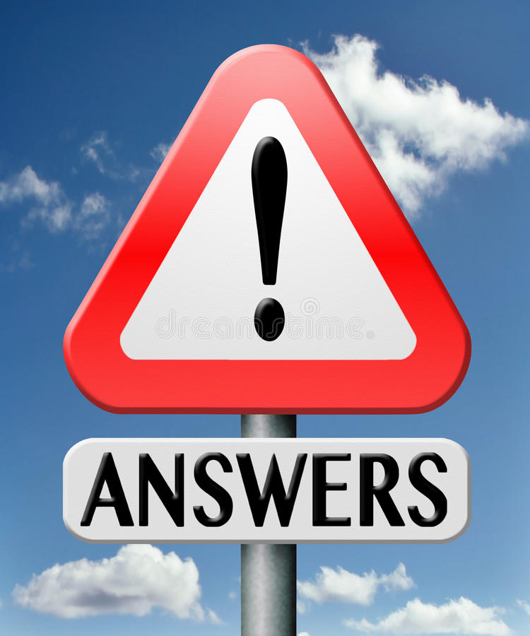 Frequently asked question. Find answers on your questions search solution and information at online info or information support desk royalty free stock image