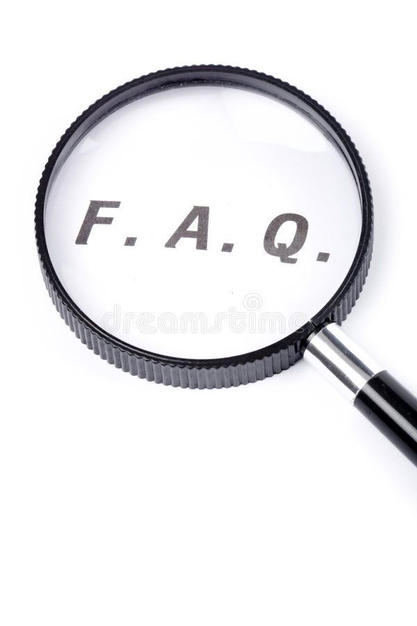 Frequently Asked Questions royalty free stock photos