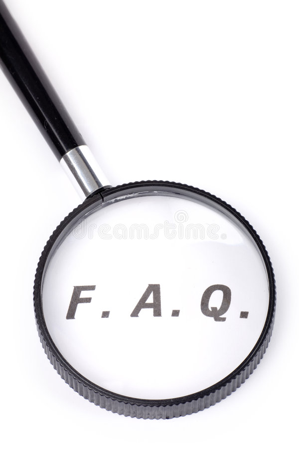 Frequently Asked Questions stock images