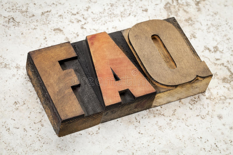 Frequently Asked Questions - FAQ Stock Photo