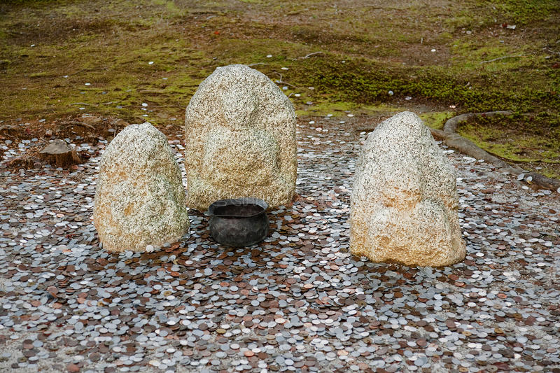 Frequently encountered form of offerings to Stone Idols royalty free stock image