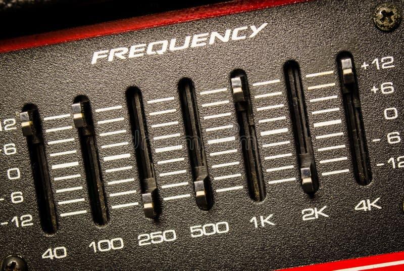Frequenz Fader stockfotos