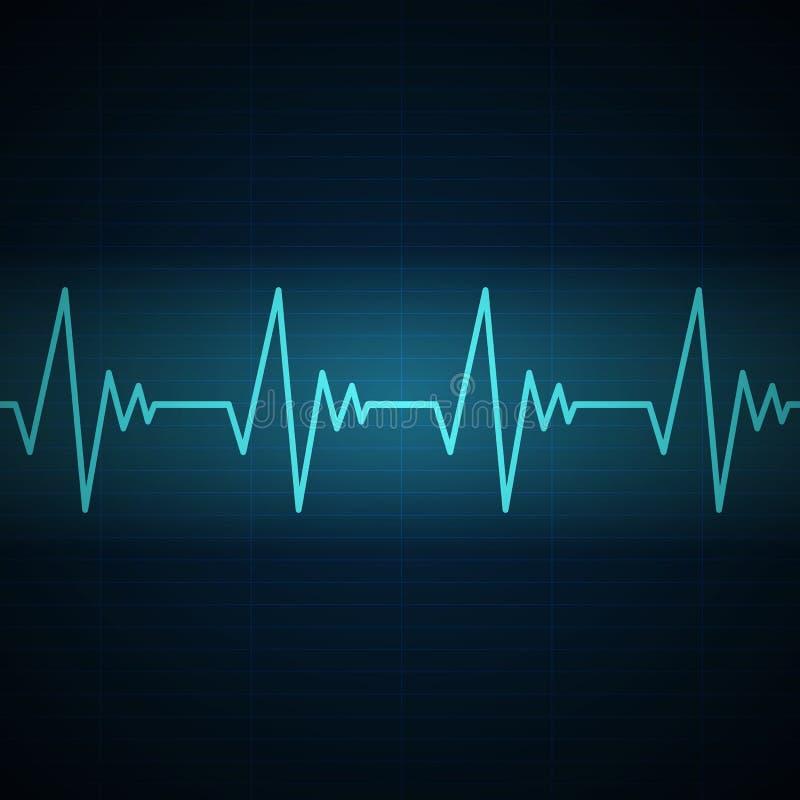 Frequenza cardiaca illustrazione vettoriale