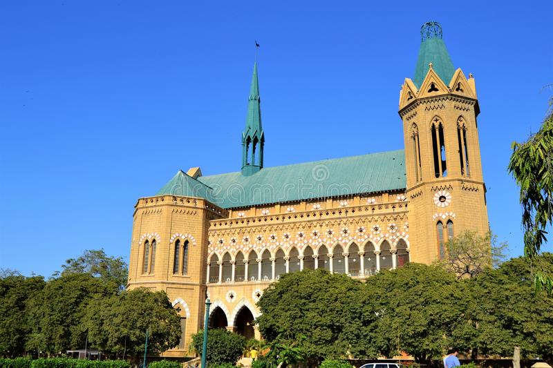 FRERE HALL-KARACHI PAKISTAN. Frere Hall is one of the many remnant buildings of the British Colonial era that still exist in Karachi, Sindh, Pakistan.It was stock images
