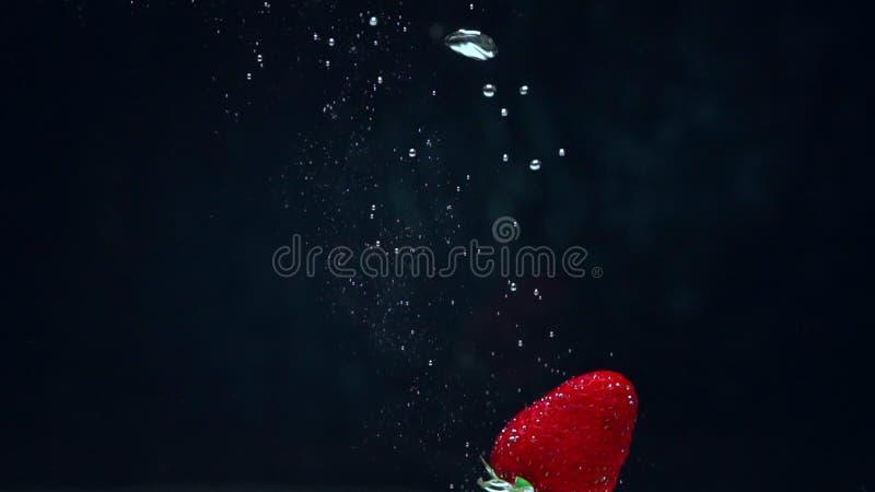 Fresa arrojada al agua metrajes