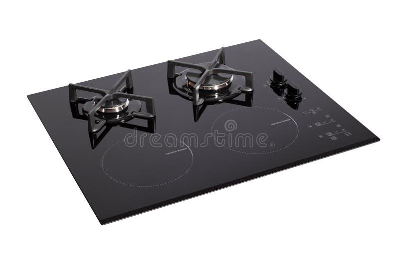 Fresa di vetro nera del elettrico-gas fotografie stock
