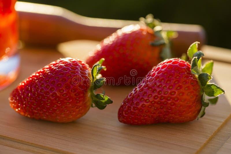 Fresa, fresa fresca, fresa madura, strawberr sano fotografía de archivo libre de regalías