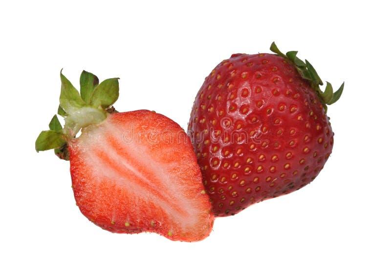 Fresa fresca roja aislada en el blanco foto de archivo