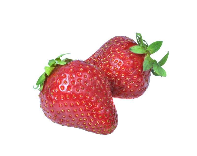 Fresa fresca roja aislada en el blanco imagenes de archivo