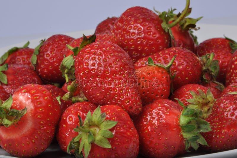 Fresa fresca roja aislada en el blanco fotos de archivo